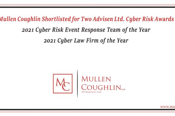 Banner Noting Awards Mullen Coughlin is Nominated For